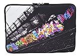 MySleeveDesign Laptoptasche Notebooktasche Sleeve für 10,2 Zoll / 11,6-12,1 Zoll / 13,3 Zoll / 14 Zoll / 15,6 Zoll / 17,3 Zoll - Neopren Schutzhülle mit VERSCH. Designs - Graffiti [10]