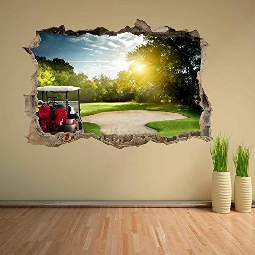 Wandtattoo Golf Course Buggy Tree Sun Wall Art Sticker Mural Decal Kids