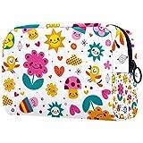 Yitian Bolsa de cosméticos para mujeres, adorables y espaciosas bolsas de maquillaje para viajes, diseño de setas