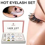 Teekit Mini Kit de Maquillaje de pestañas Lashes Lifting Curling Set Almohadillas Cilia Lift Perm Varilla Pegamento Ojos Maquillaje Herramienta