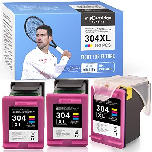 myCartridge SUPRINT 304 304XL Cartuchos de Tinta remanufacturados Reemplazo para HP 304 304XL Cartuchos de Impresora compatibles para HP DeskJet 2620 2630 3720 3730 3735 HP Envy 5020 5030 5032(Color)