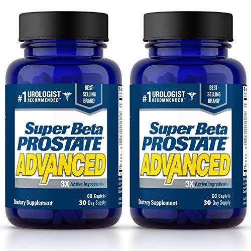 Super Beta Prostate Advanced – Reduce Nighttime Bathroom Trips With Urologist Recommended Prostate Supplement for Men. Over 15 Million Bottles Sold (120 Caplets, 2- Pack)