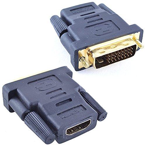 Adaptador HDMI Hembra DVI Macho 24 + 1 Conector Conversor Xbox Playstation
