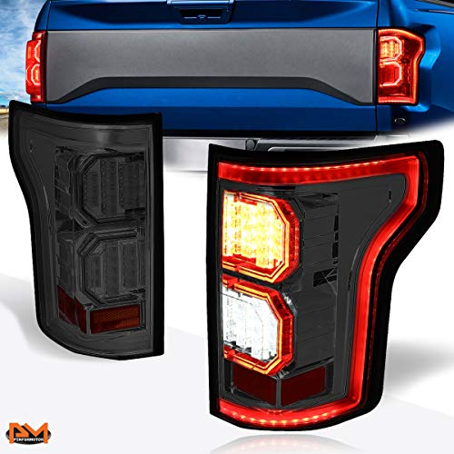 Compatible with Ford F-150 Truck 15-17 Tron Style 3D LED Bar Tail Light Brake Lamp Smoked