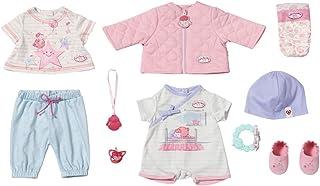 Zapf Creation 703267 Baby Annabell Kombi set dockkläder 43 cm, 12-delat set bestående av dockjacka, skjorta, byxor, skor o...