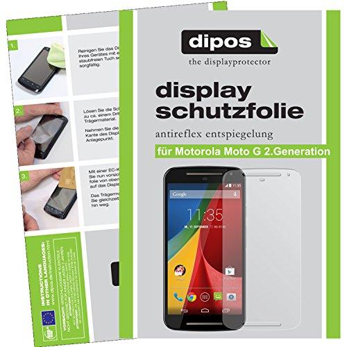 dipos I 2X Schutzfolie matt kompatibel mit Motorola Moto G (2. Generation) Folie Displayschutzfolie