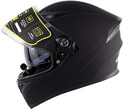 LXHG Bluetooth Motorcycle Helmets, Dual Visor Full Face Helmets, DOT Approved Motorbike Helmet, Street Bike Helmet for Men...