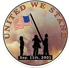 ION Graphics 3 Inch Firefighter United We Stand FDNY 911 Vinyl Sticker Decal Size: 3x3 Inches