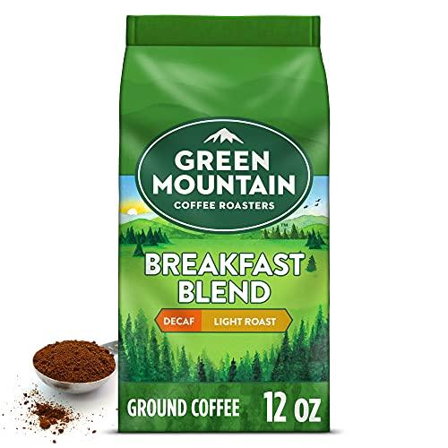 Green Mountain Coffee Roasters Breakfast Blend Decaf, Ground Coffee, Light Roast, Bagged 12 oz