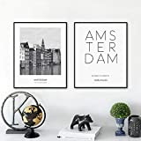 FA LEMON Niederlande Amsterdam Landschaft Leinwand Malerei