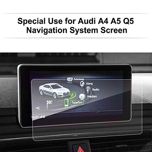 LFOTPP A4 S4 A5 S5 Navigation Schutzfolie - 9H Kratzfest Anti-Fingerprint Folie Navigationssystem Displayschutzfolie GPS Navi Schutzfolie