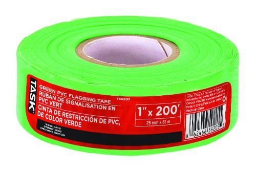 Task Tools T59205 1-Inch Green PVC Flagging Tape by Task Tools