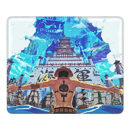 Anime One Piece Portgas D. Ace - Alfombrilla de ratón de goma para juegos de oficina, antideslizante, resistente a la suciedad, tacto suave y delicado, 7.9 x 9.5 pulgadas