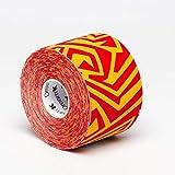 Tape de Sixtus Italia–Dream K Tribe 5cm x 5m–amarillo de color rojo–el Deporte Tape con efecto Kinesio–más rápido y cómodo Tape Vendaje
