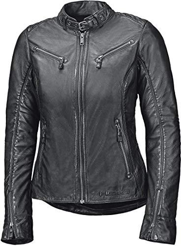 Held Chaqueta de moto con protectores Sabira para mujer, de piel, color negro, talla 40, para todo el año
