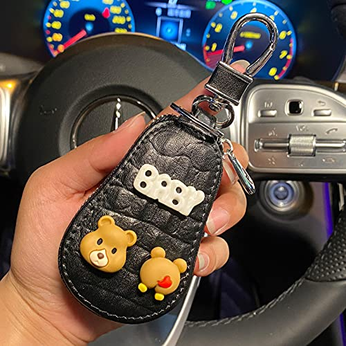 Caja de clavija de coche Femenino Creativo Coche lindo llavero protector de cáscara de cáscara de cáscara de coche Cubierta protectora Hombre femenino