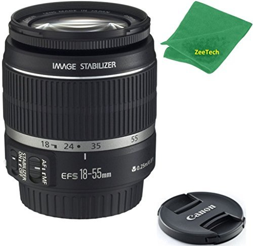Great Price! Canon EF-S 18-55mm f/3.5-5.6 is II (Bulk White Box Packaging) ZeeTech Premium Lens + Ze...