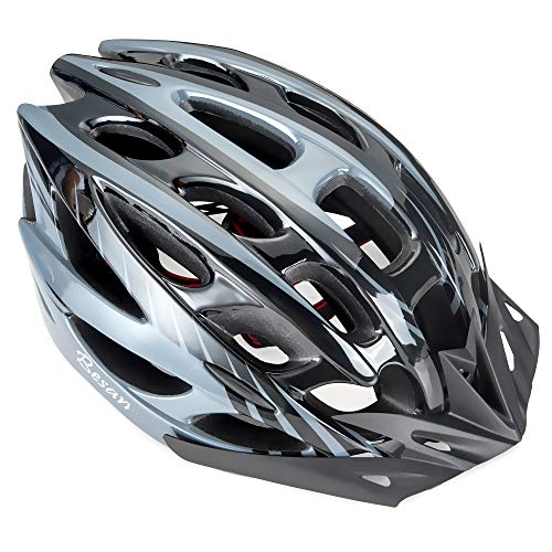 Besan Unisex Adult Allround Bike Helmet For Men And Women Ideal For Cycling On Road, Mountain Large Detachable Visor For Sun Protection. Adjustable And Ultralight Helmets.
