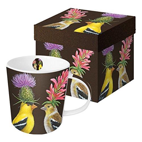 PPD Goldfinch Couple Trend Kaffeebecher, Kaffeetasse, Kaffee Becher, New Bone China, Mehrfarbig, 350 ml, 602640