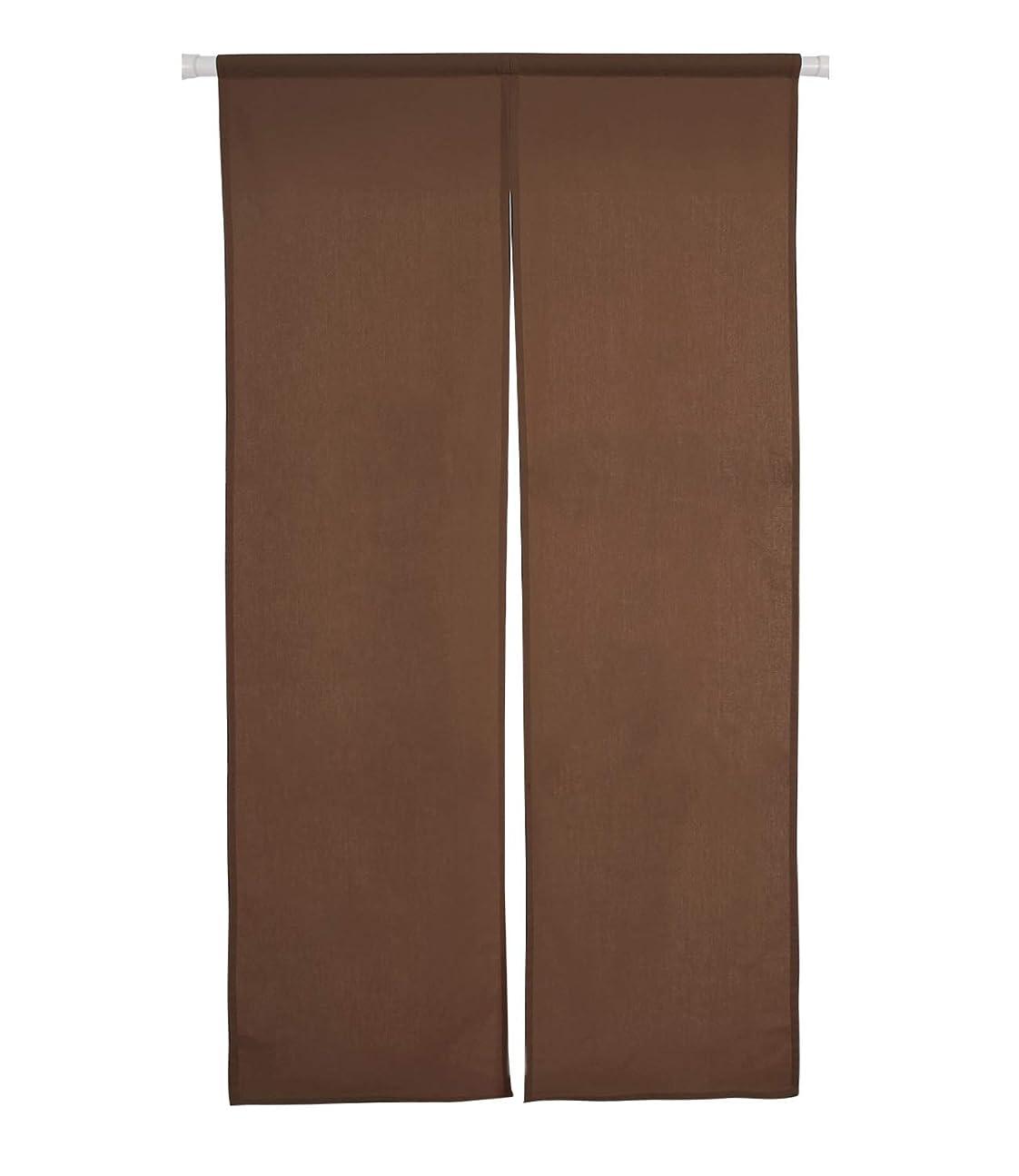 松弓座標Deconovo のれん 無地 和風 おしゃれ 北欧 幅72丈150cm ブラウン 全8色