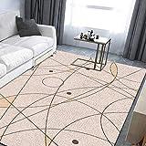 MMHJS Alfombra de Mesa de café geométrica Moderna Simple de Estilo Europeo, Alfombra Antideslizante Impresa en 3D, Sala de Estar, Dormitorio, Hotel, casa de huéspedes, Alfombra para Fiestas
