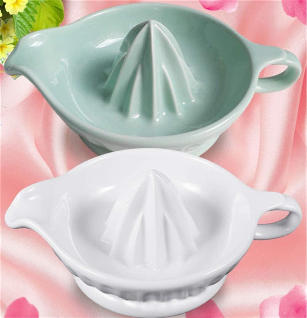 LLDKA Exprimidor exprimidor Manual de cerámica Reina Jugo de limón Prensa de sujeción de la máquina Herramienta Exprimir el Jugo de limón se atornilla,Verde Green