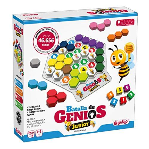 Lúdilo- Batalla de genios Junior, Rompecabezas 3D, Mesa Educativo, Puzzles para niños con Piezas de Madera, Juegos Tablero, Potencia la lógica y Velocidad, 80980