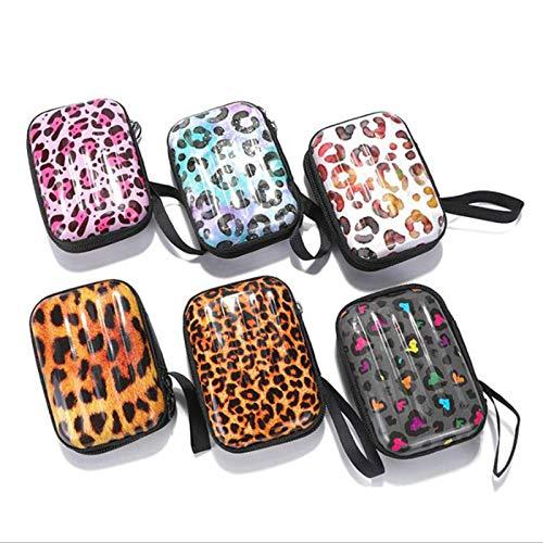 N-B 6 mini bolsa de equipaje modelo cuadrado de estaño caja de hierro para llaves, lápiz Casesteel Box/moneda, bolsa de almacenamiento para auriculares