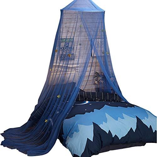 Muggennetten Blauw Deluxe Dome Bed Luifel Tent Bedsprei met Kleine Sterren Perfect Versierd Slaapkamer Decor Ingerichte Eenpersoonsbed Tweepersoonsbed Bed Luifel