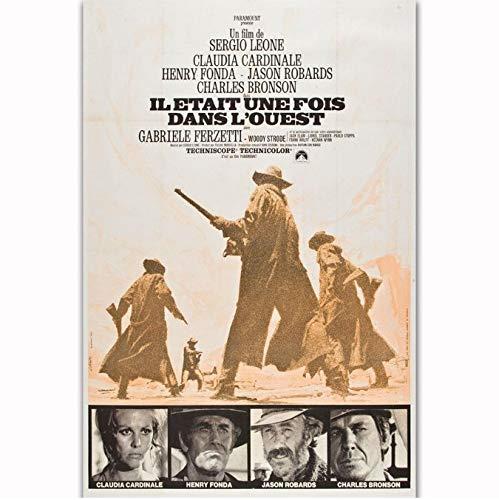 Zahuishile Affiches et Impressions Cowboy Film Western Film Il était Une Fois dans l'Ouest Art Affiche Toile Peinture Décor À La Maison 40X60Cm sans Cadre
