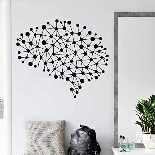 YSNMM Conexiones Cerebrales Vinilo Tatuajes De Pared Oficina Estudio Decoración De La Habitación Inspirado Arte Pegatinas Decoratrion Diseño Simple Cartel