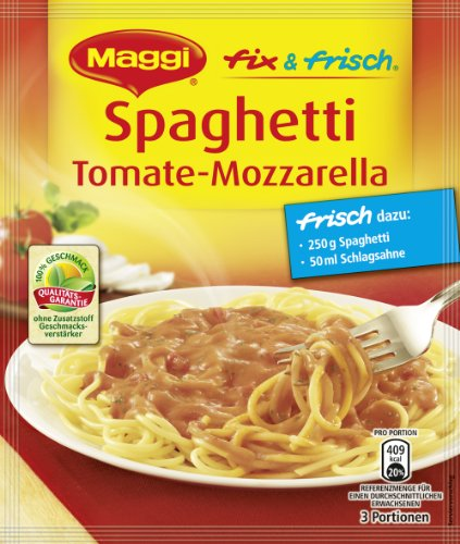 Maggi Fix Spaghetti Tomate-Mozarella, 36 er Pack (36 x 45 g)