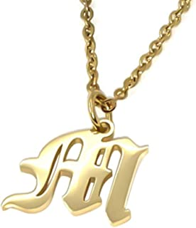 Old English Initial Alphabet Letter Necklace