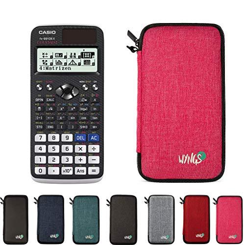 Casio FX 991 DE X + erweiterte Garantie + Schutztasche in Pink