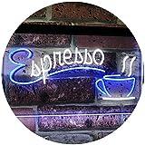 ADVPRO Espresso Coffee Shop Dual Color LED Neon Sign White & Blue 16' x 12' st6s43-i2075-wb