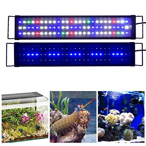 KZKR Upgraded Aquarium Light LED Full Spectrum 24-32 inch Hood Lighting Lamp for Freshwater Marine Plant Fish Tank Decorations Light 60-80 cm