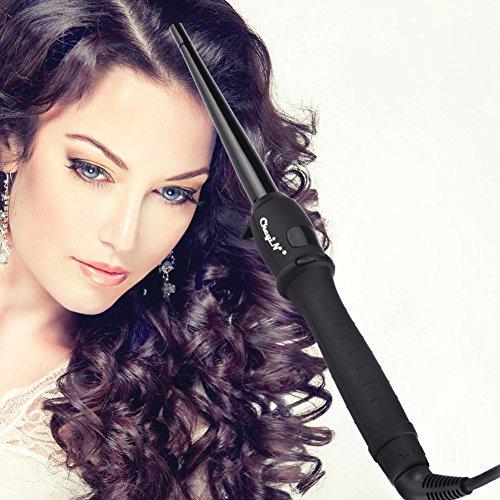 CkeyiN ®Turmalin Keramik Cone Haar Brennstab Rollers (9-19mm) 110-240V Dual Voltage Hair Styling Tool - 6