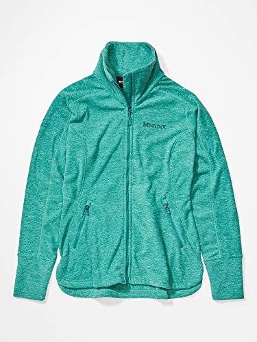 Marmot Damen Wm's Pisgah Fleece Jacket Fleecejacke, Outdoorjacke, Atmungsaktiv, Deep Jungle, S