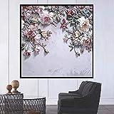 Papel tapiz 3D estéreo moderno flores rosas murales de pared...