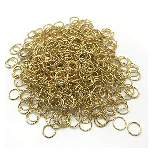WRRPS Metal Open Jump Rings Split Rings Connectors For Diy Jewelry Making DIY accessories (Color : Golden, Size : 6mm 300pcs)