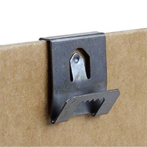 20 Klemm-Bilderhaken, für 2 - 3 mm dicke Rückwände, mit Sägeblatt-Halterung