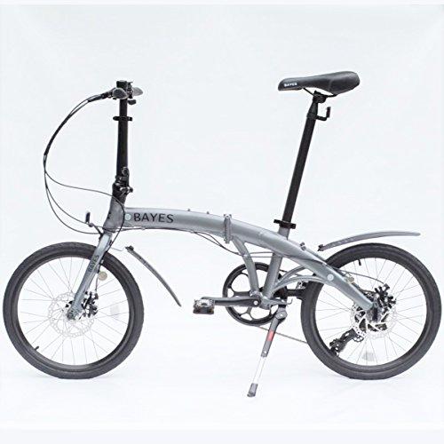 Bayes–Bicicleta plegable de aluminio Shimano, de 20 pulgadas con 8velocidades, con frenos...