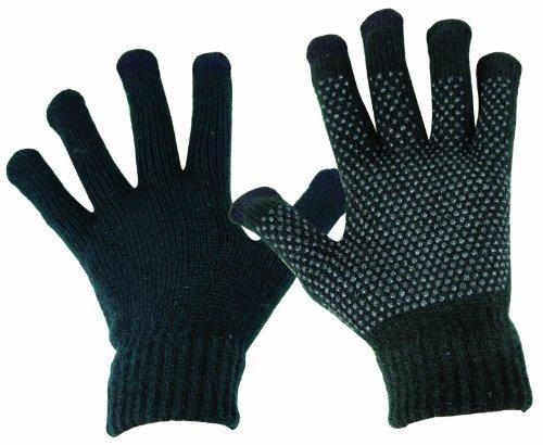 HIGHLANDER Gants en Laine Compatibles écran Tactile XL Noir