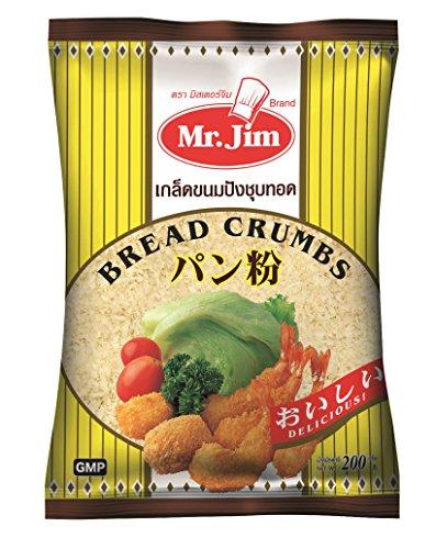 Mr.Jim - Bread Crumbs - Pan Rallado Panco - Ideal para Crispy Chicken y Gambas Rebozadas - Producto de Thailandia - 200 Gramos