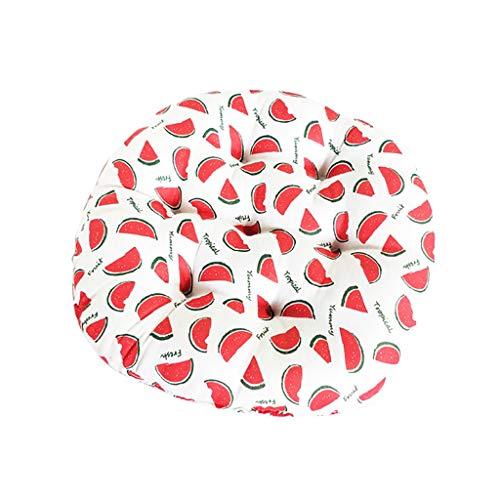 BarlingrockSitzkissen, Watermelon Cushions Dining Chair Cushions Sitzkissen zum Binden Bodenkissen Round Cotton Indoor Garden Dining Chair Booster