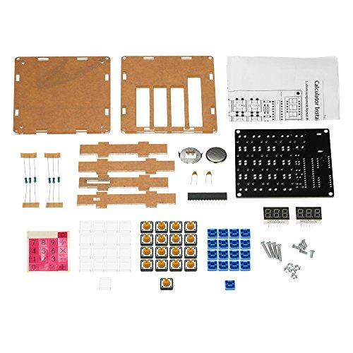 DIY MCU Calculator Kit Digital Tube Calculator with Transparent Case