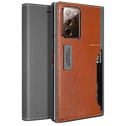 OBLIQ [K3 Wallet] Designed for Note 20 Ultra case Flip Cover Four Credit Card & ID Pocket Stylish Wallet Case for Samsung Galaxy Note 20 Ultra [2020] (Black Gray/Brown)