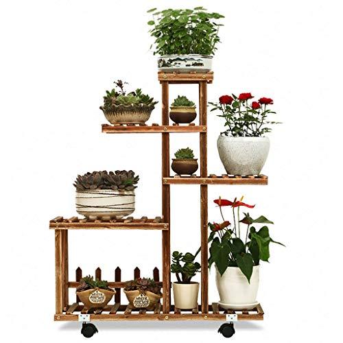 Houten bloemenstandaard plantenrek voor binnen en buiten, voor in de tuin, tuin, erf, bad