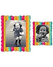 Nourish Magnet Photo Frame (5.9 x 4.52 x 0.15 inch, Multicolour)