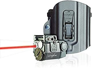 Viridian C5L-R Universal Red Laser Sight and Tac Light for Sub-Compact Handgun Pistols, ECR Instant On Technology with TacLoc Holster